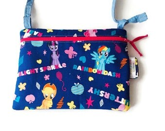 Clearance sale! My Little Pony, small crossbody bag, IPhone 6 Plus purse, sling bag, travel purse