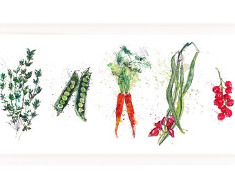 Vegetable Print Illustration - Create your own