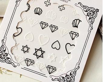AA ** Nail Sticker , Nail Deco Nail Art