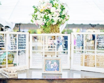 Set of 3!Wood window wedding seating chart, window seating charts, wedding table chart, wood window frame seating chart 2, 4, 6, and 9 panes