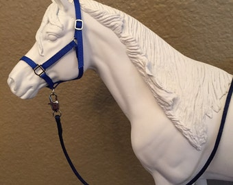 Model Horse Halter & Lead -Custom Made To Order -Any Color-