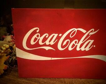 11x14 Coca-Cola canvas art