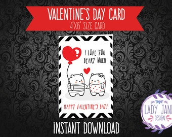 Valentine's Day Card *INSTANT DOWNLOAD*