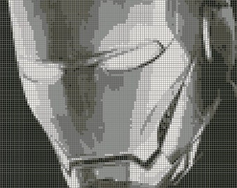 Iron Man Cross Stitch Pattern