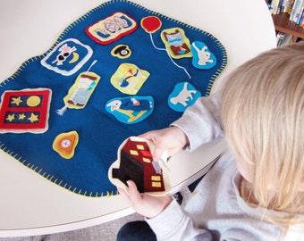 Felt Board Stories: Goodnight Moon -  Flannel Board Stories - Felt Board Set - Flannel Board Set - Montessori Felt Story -
