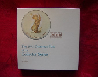 Schmid Brothers Berta Hummel 1971 Christmas Collector Plate Limited First Edition