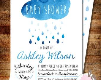 Watercolor Rain Baby Shower