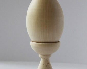 Blank Wooden Egg, DIY Unfinished Unpainted Wood Egg, Easter Egg