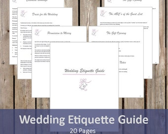 Wedding Gift Etiquette Canada : wedding etiquette guide guide to planning a wedding wedding traditions ...