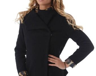 Womens Black Jacket, Blazer Jacket, Womens Blazer, Long Sleeves Jacket, Business Clothing, Fitted Jacket, Black Blazer, Office Jacket