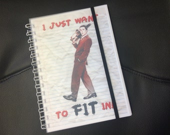 American Psycho Notepad - I Just Want to Fit In (A5) - Christian Bale - Patrick Bateman