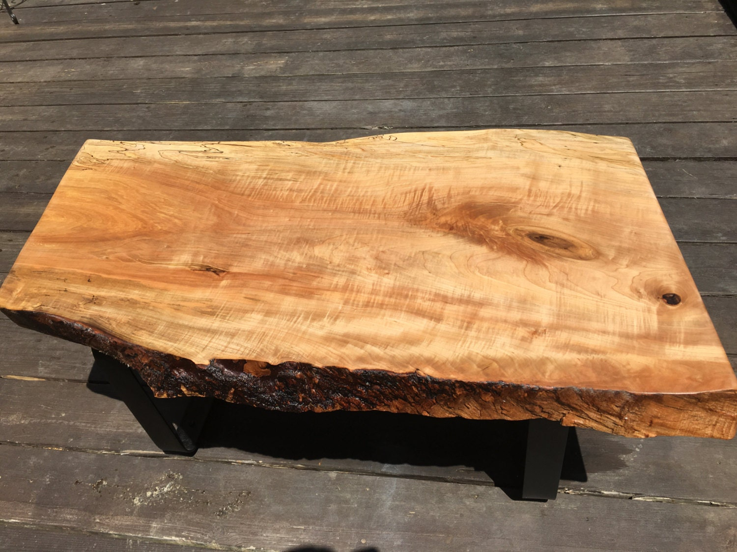 Maple Wood Slab Table