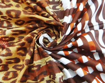 """Multicolor Abstract Pattern Pure Cotton Fabric 42"""" Wide Sew Apparel Drape Dress Making Sewing Crafting Material Fabric By 1 Yard ZBC4183"""
