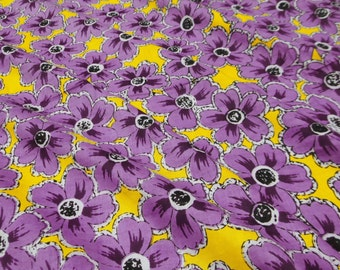 "Pure Cotton Floral Pattern Printed Fabric 43"" Wide Fabric For Sewing Crafting Dress Making Material Indian Fabric By 1 Yard ZBC5004"