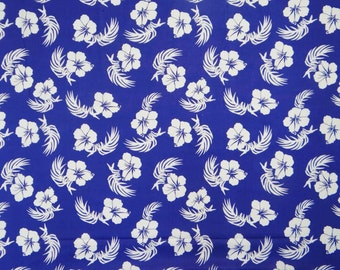 "Pure Cotton Indian Designer Fabric 41"" Wide Blue Color Floral Printed Fabric For Sewing Crafting Dressmaking Material By The 1 Yard ZBC5538"