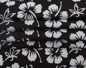 """42"""" Wide Black Cotton Floral Fabric Craft Supplies Dressmaking Material Apparel Sewing Indian Cotton Dress Sewing Fabric By 1 Yard ZBC7791A"""