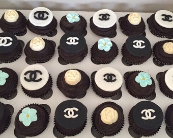 Chanel Cupcake Toppers - 12