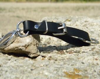 Leather KeyChain, Handmade Leather KeyChain, Leather Key Fob, Custom Leather KeyChain, Leather Keyring, Key Chain, Black Leather Key Fob