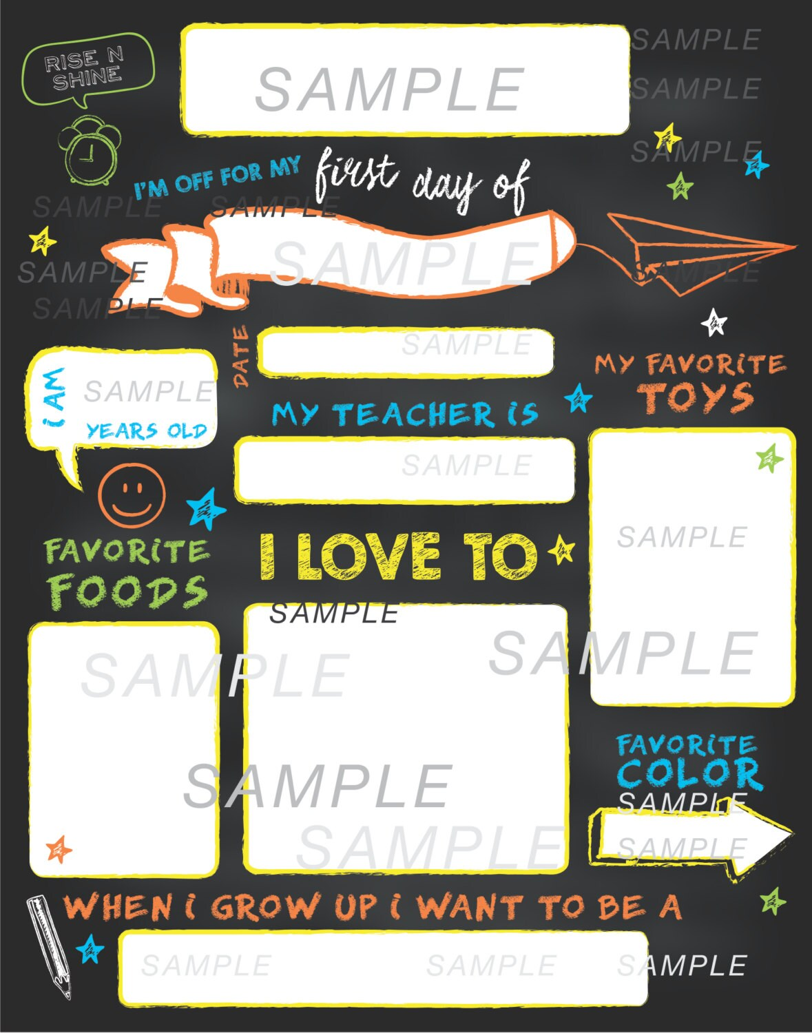 fill in back to school sign first day of school sign back to school printable chalkboard. Black Bedroom Furniture Sets. Home Design Ideas