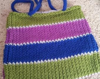 Green, Purple, Blue and Gray purse/bag