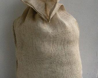 Burlap Christmas Bag,  Gift Bag, 12 x 19 in. / 14 х 21 in. / 16 x 23 in. / 18 x 25 in. Big/Meduim
