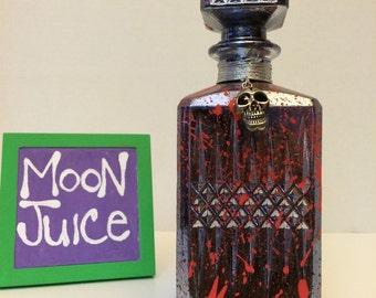 potion bottle - ornate folk art - glass potion bottle - artistic potion bottle - glass art potion bottle