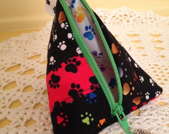 Paw Prints Mini Scrappy Zippered Everything Bag