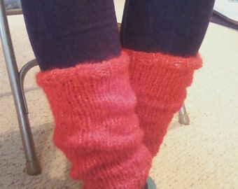 Holiday Red Leg Warmers/Boot cuffs