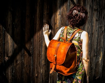Leather backpack, notebook backpack, trawell backpack, unisex backpack, hand made backpack, custume made backpack.