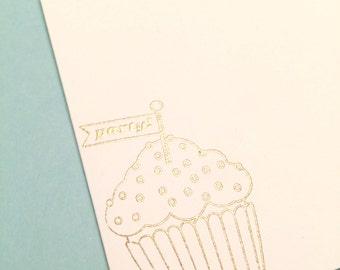 Envelopes   Cupcake Envelopes   Let's Party   Set of 10   Gold Embossed Envelopes