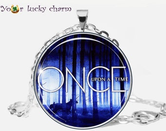 Once Upon A Time pendant, neklace,  jewelry, (Image under glass), fairy tale, EVIL QUEEN, Fairy, for her, for him, husband gift