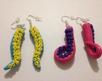 2 pairs of Tentacle earrings