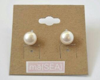 Madeline Renee Pearl Studs Earrings