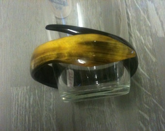 snake bracelet /natural zebu's horn bracelet/yellow snake horn bracelet