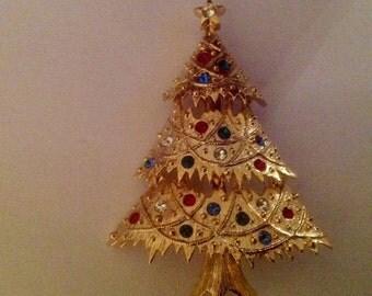 EISENBERG ICE Vintage Christmas Tree Brooch