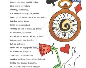 Illustrated Poem 'You're Late' Print