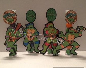12 Teenage Mutant Ninja Turtles candy tube favor.