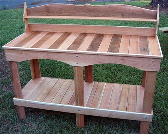 Our Style #10 Western Red Cedar Potting Bench