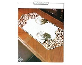 Genuine Vintage Regal Rose effect Table-Centre Crochet Pattern PDF