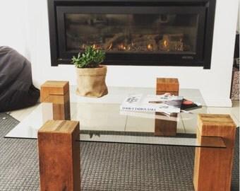 Post & Pane coffee table