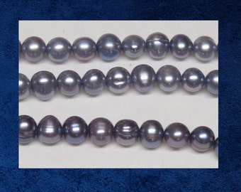Pearl, Violet - 36 Round shape. 5mm.  purple freshwater pearl beads. #PERL-002