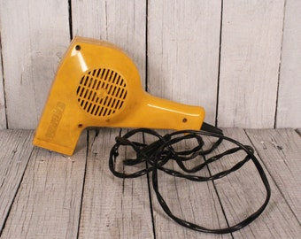 Vintage hair dryer - 1970s hairdryer - Retro hair dryer - Retro bathroom - Vintage Farel hair dryer - Made in Poland