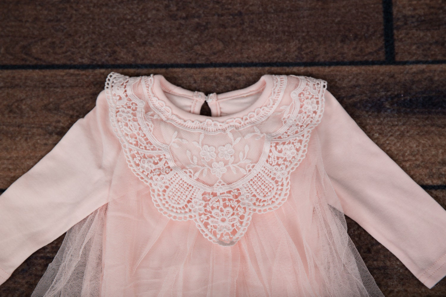 Light Pink Infant Dress Newborn Light Pink Lace Baby Dress