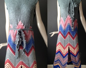 SALE chevron crochet dress--s/m