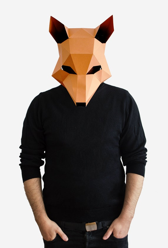 Fox mask diy printable animal head fantastic by for Fantastic mr fox mask template