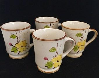 JI Stonecrest Ceramic Mugs; Made in Korea; Springtime Pattern; JI Stonecrest Coffee Mugs; Ceramic Coffee Mugs; Stonecrest Mugs