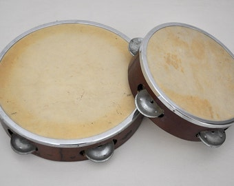 Vintage Musical Instruments - Pair of Tambourines / Hand Percussion