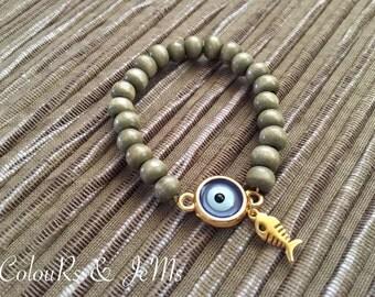 Handmade bracelet, beaded bracelet, wooden beads