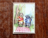 Wind in the Willows- Greeting card- Illustration- Handmade in Australia