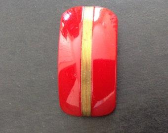 Red Bakelite Clip